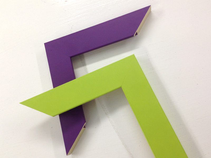 Lime Green and Purple Frames! Funky New Colours! / The Wall Space ...